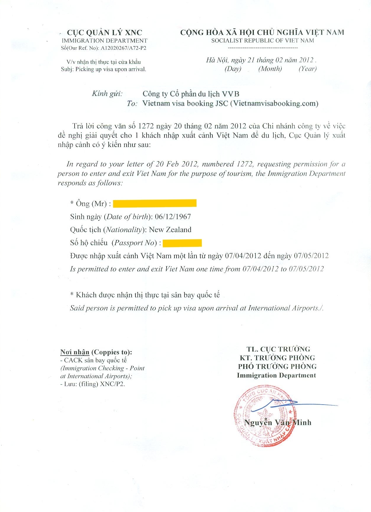 How Does Visa Approval Letter Look Like  RapidvietnamvisaCom